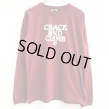 【CRACKLIMB】 HAL LONG TEE (WINE)