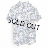 【CRACKLIMB】FLOUR PATTERN SHIRT (BLU)