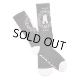 【CROOKS&CASTLES】 CHAIN C CASTLE SOCKS