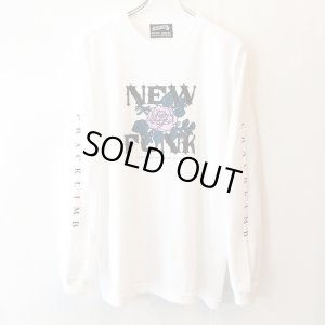 画像1: 【CRACKLIMB】FLOWER LONG TEE (WHITE)