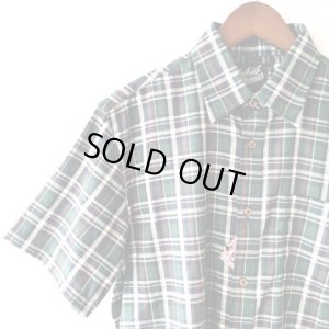 画像2: Green Check Shirt / size: M