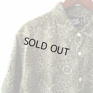 画像2: Green Paisley Shirt / size: XL