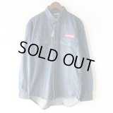 【NEWFUNK】BOX LOGO DENIM SHIRT (INDIGO)