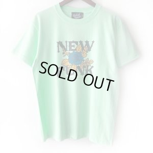 画像1: 【NEWFUNK】FLOWER TEE (MINT GREEN)