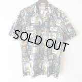 Pattern Shirt / Blue Aloha / size: L