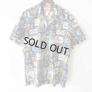 画像1: Pattern Shirt / Blue Aloha / size: L