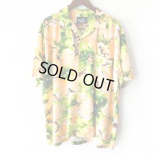 画像1: Pattern Shirt / Fruits Flower / size: XL