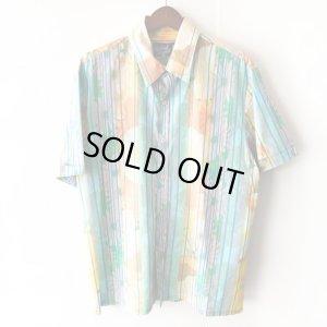 画像1: Pattern Shirt / Check Flower / size: XL