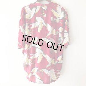 画像2: Pattern Shirt / Red Lesf / size: XL