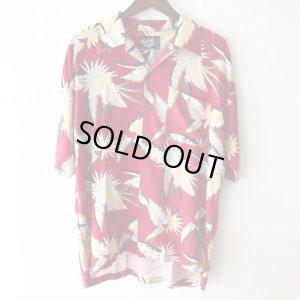画像1: Pattern Shirt / Red Lesf / size: XL