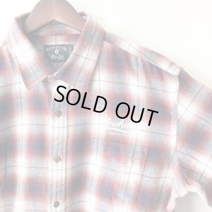 画像3: 【NEWFUNK】PAISLEY LINE OVERCHECK SHIRT (RED)