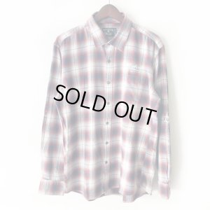 画像1: 【NEWFUNK】PAISLEY LINE OVERCHECK SHIRT (RED)