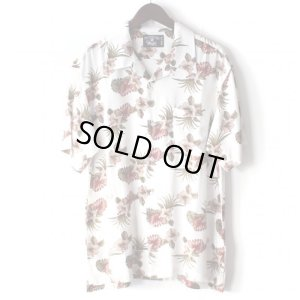 画像1: Pattern Shirt / Flower White / size: XL
