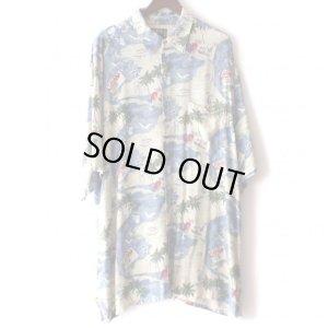 画像1: Pattern Shirt / Sea Aloha / size: 2XL