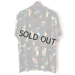 画像1: Pattern Shirt / Cocktail Black / size: XL