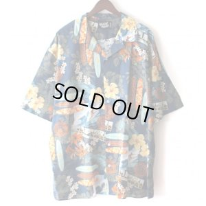 画像1: Pattern Shirt / Surf Board Blue / size: 2XL