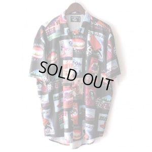 画像1: Pattern Shirt / Fast Food / size: XL