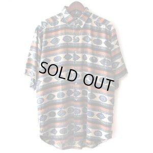 画像1: Pattern Shirt / Sapphire / size: XL