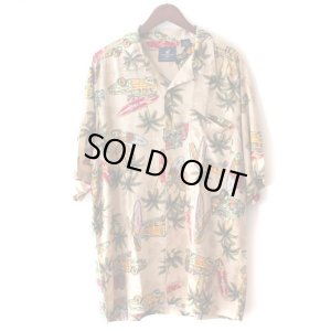画像1: Pattern Shirt / Surf Car / size: XL