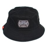 【NEWFUNK】AKMZTAG BUCKET HAT (BLACK)